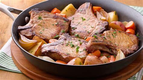 pork chop skillet dinner recipe from betty crocker - Pork Dinner Recipes