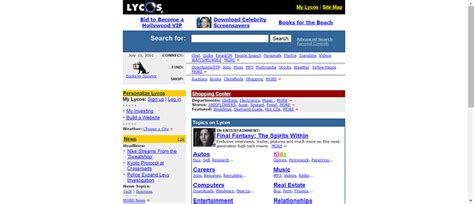 Lycos Search Early Search Engines Look Back At Early Search History