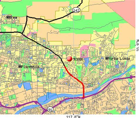 zip code map yorba linda ca 92886 zip code yorba linda california profile homes