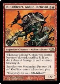 magic the gathering goblin deck ib halfheart goblin tactician duel decks elves vs