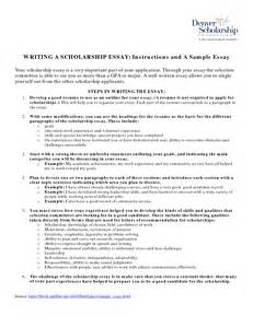 Writing Essays For Scholarships by Essay Exles For Scholarships Jianbochen