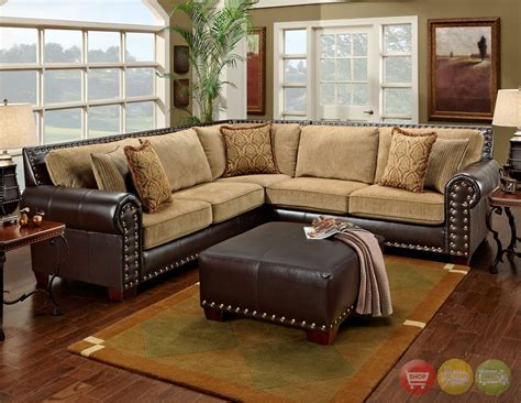 Chenille And Leather Sectional Sofa by Chenille Sofa Sectional Image 1 Size Of Sofa