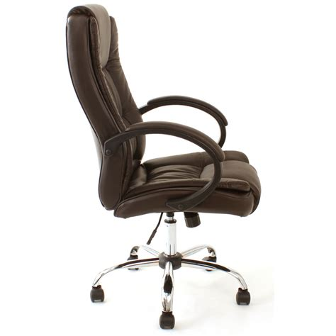 Brown Desk Chair santana brown high back executive office chair leather