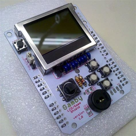 arduino console gamby arduino retro gaming shield from logicalzero on tindie