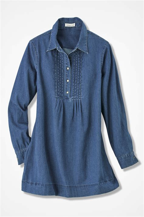 Denim Tunik tucked denim tunic coldwater creek