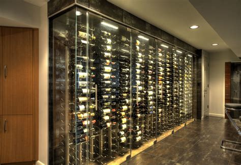 Wenge Kitchen Cabinets by Wine Cellar Storage Room Amp Glass Bar Countertop