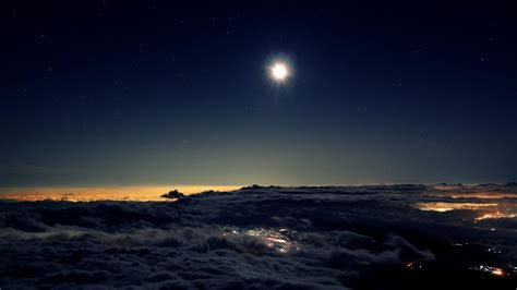 night sky moon japan nature landscape wallpaper preview