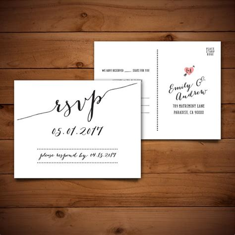 items similar to rsvp diy wedding template rsvp