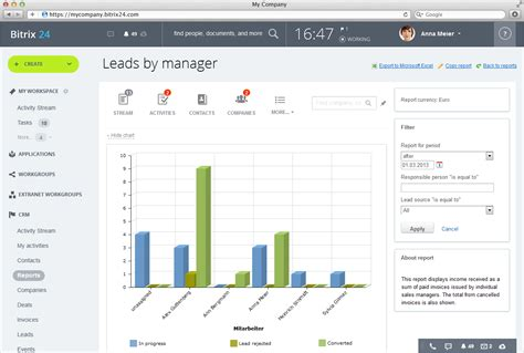 sle of a report to management bitrix24 free sales automation and sales team management