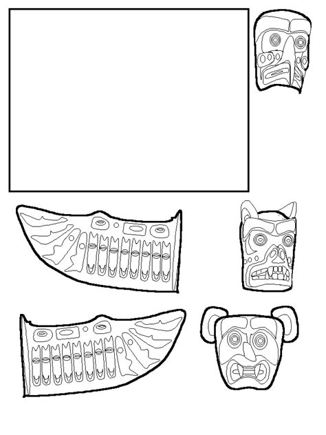 totem pole template animal totem poles coloring pages