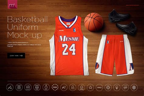 design basketball jersey photoshop basketball uniform mock up product mockups creative market