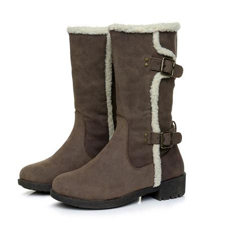 Flat Shoes Inside 13 fashion winter boots warm lambs wool inside