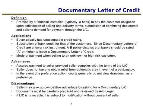 Letter Of Credit Exposure Tools To Manage Credit Risk