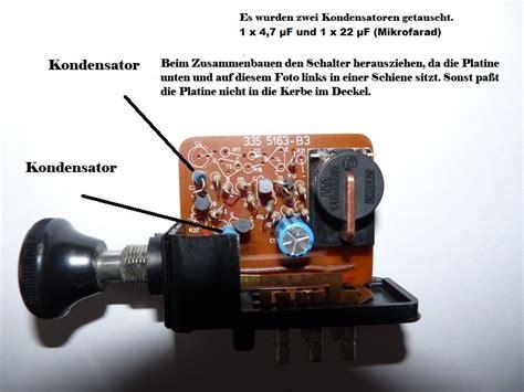 Motorrad Batterie Durch Kondensator Ersetzen by Reparatur Blinkerrelais 8 Knowhow