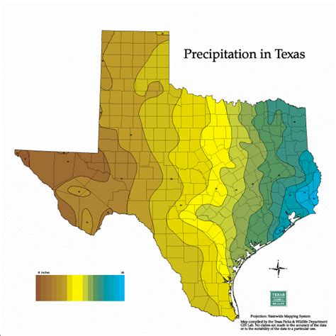 texas precipitation map tpwd maps
