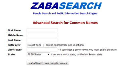 Zaba Search Free Free Search Engine Zabasearch Autos Post