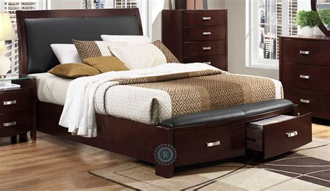 lyric espresso cal king sleigh storage bed  homelegance knc ck coleman furniture