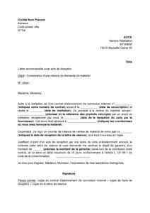 Exemple De Lettre De Demande De Matériel Informatique Lettre De Contestation D Une Relance D Demandant La