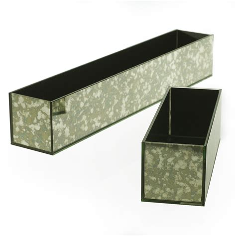 Mirrored Planters by Antique Mirror Planter Accent Decor