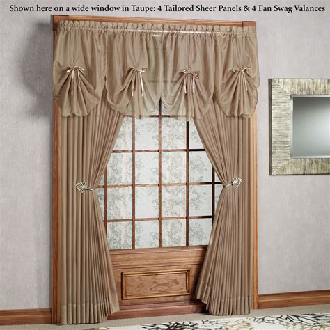 sheer swag curtains valances emelia sheer fan swag valances valance swag and fans