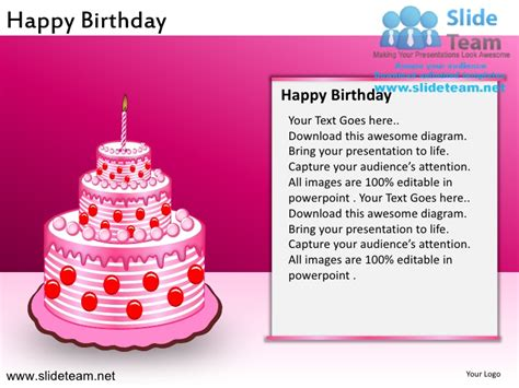 Happy Birthday Powerpoint Ppt Slides Happy Birthday Powerpoint Presentation