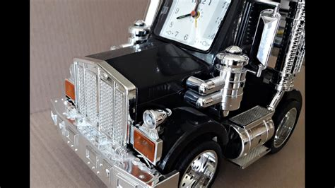 talking semi truck alarm clock cool animated lights youtube
