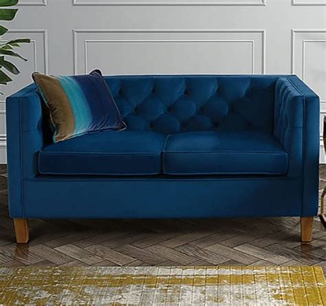 back to back sofa velvet button back two seater sofa by i love retro