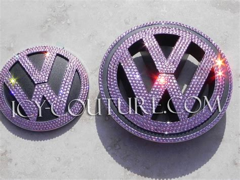 volkswagen cer pink bling your volkswagen vw emblem whats your color