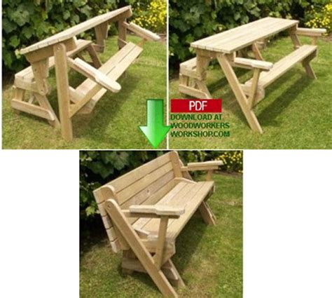 plans for picnic table bench combo folding bench and picnic table combo pdf woodworking plan