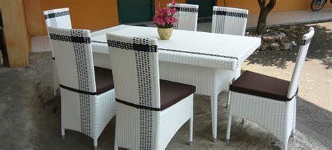 Meja Makan 4503 Dining Set Hitam rattancbm rattan furniture