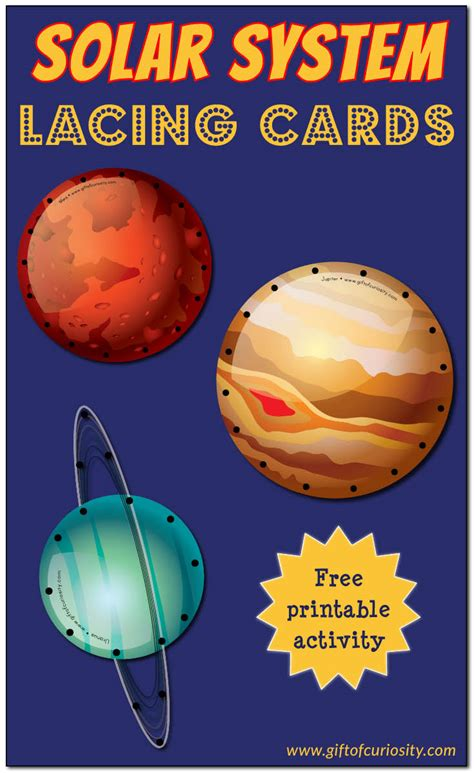 solar system trading cards template high school craftionary