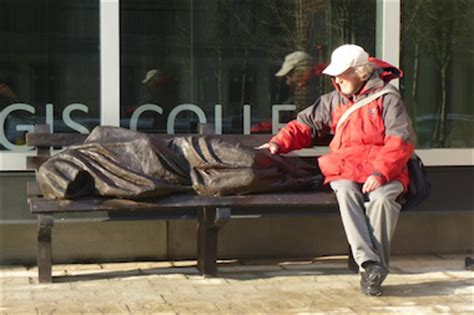 homeless jesus on park bench jesus the homeless statue coming to chicago river