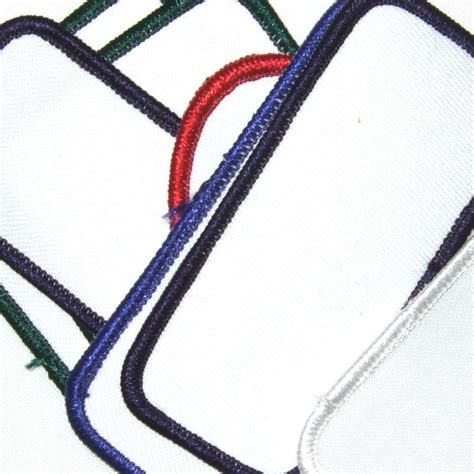 Deluxe Blank Patch Assortment for Sublimation, Embroidery