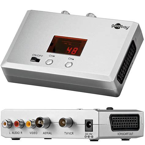 Bs0320 Modulator Av To Rf Vhf Uhf Stereo Skyview Baru breitband audio hf modulator scart cinch auf antenne konverter uhf vhf ebay