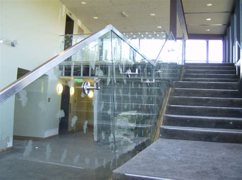 Interior Handrails Hercules Fence Maryland Glass Railings Virginia Glass