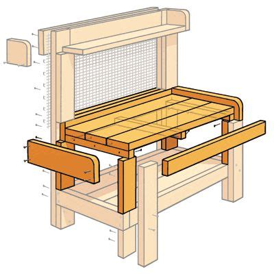 make a potting bench best 25 country bench ideas on pinterest