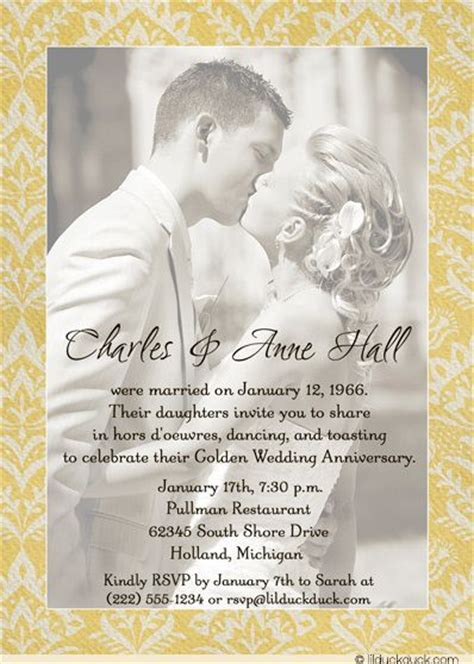 25  best ideas about 50th Wedding Anniversary Invitations