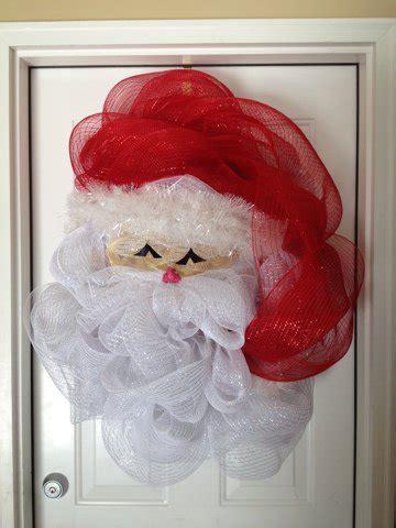 diy santa claus classroom door 10 creative deco mesh wreath ideas page 2 of 2