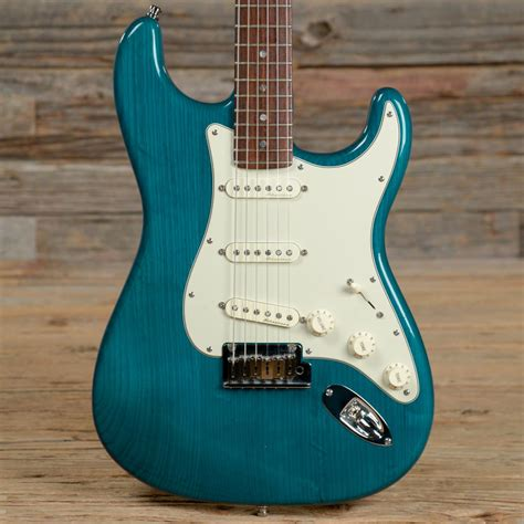 American Transparency Records Request Fender American Deluxe Stratocaster Rw Teal Green Transparent Reverb