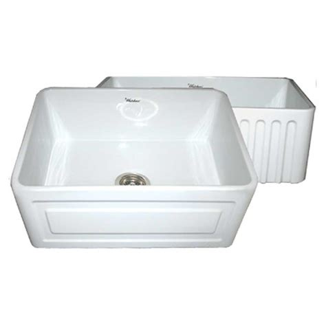 Raised Kitchen Sink Whitehaus Collection Reversible Series Raised Panel