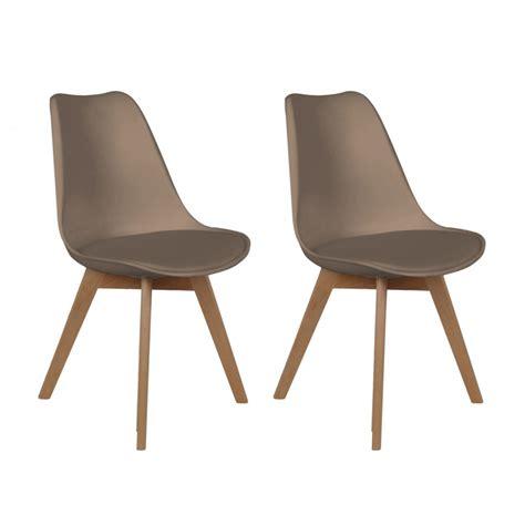 chaise bois scandinave lot de 2 chaises design scandinaves pas cher pieds en bois