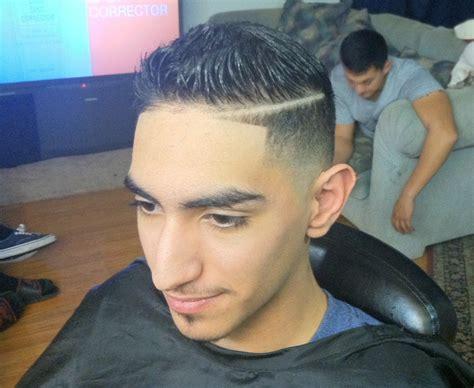 scissor boys haircuts hairstyle comb over fade scissor trim combover part