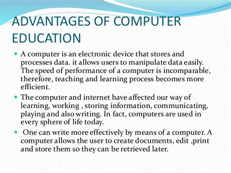 Computer In Education Essay by Expert Essay Writers Advantages And Disadvantages Of Computer Essay Writing Bpx Essaytyper
