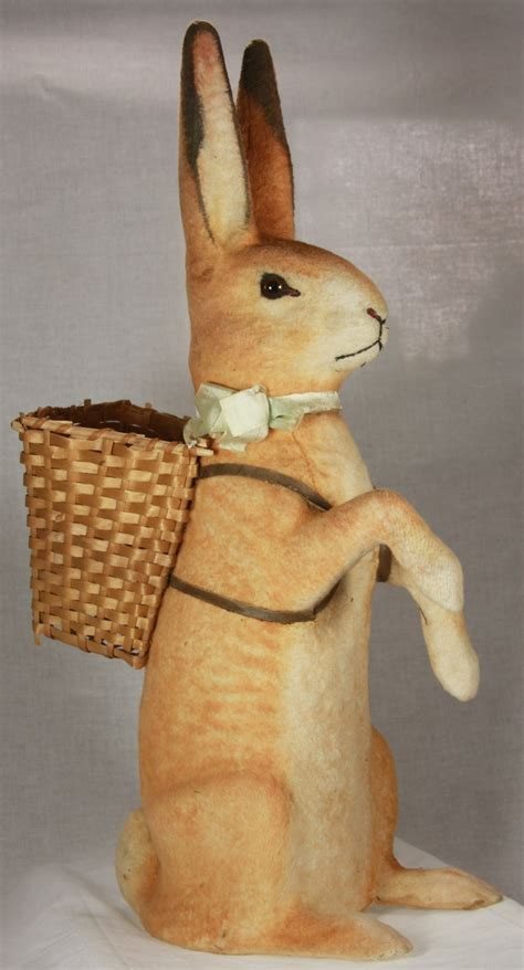 Size Antique German Easter Bunny - details about vintage german easter rabbit container
