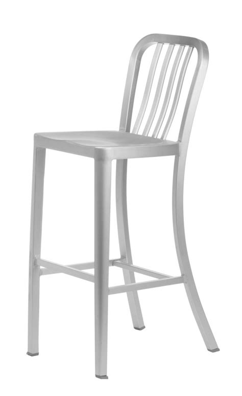 brushed aluminum navy backless swivel bar stool at aluminum bar stool with back delta stools target outdoor