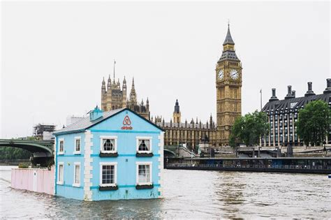 thames river meaning airbnb s floating house sets sail along the river thames