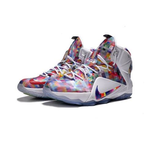 lebron 2015 shoes 2015 nike lebron 12 ext quot prism quot multicolor white