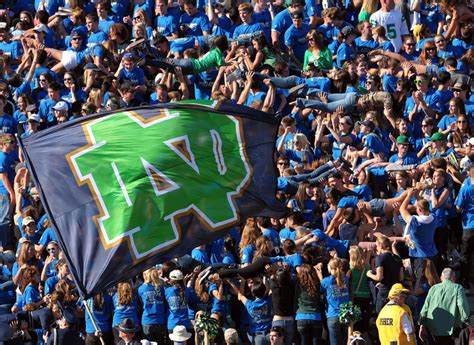 notre dame student section declaration of independence news the daily domer