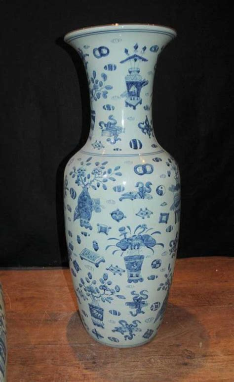 Large Urns And Vases by Pair Large Kangxi Porcelain Vases Urns Blue White Pottery