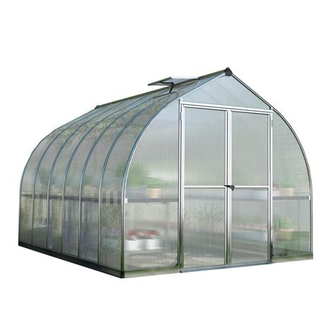 Palram Bella 8 ft. x 12 ft. Silver Polycarbonate Greenhouse 703730 The Home Depot
